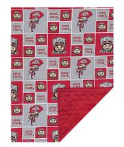 Ohio State Buckeyes Baby/Toddler Minky Blanket