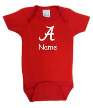 Alabama Crimson Tide Personalized Team Color Baby Bodysuit
