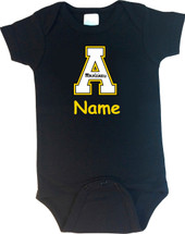 Appalachian State Mountaineers Personalized Team Color Baby Bodysuit