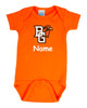 Bowling Green St. Falcons Personalized Team Color Baby Onesie