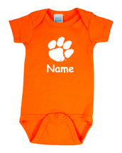Clemson Tigers Personalized Team Color Baby Onesie