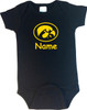 Iowa Hawkeyes Personalized Team Color Baby Onesie