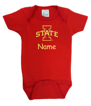 Iowa State Cyclones Personalized Team Color Baby Onesie