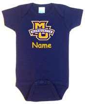 Marquette Golden Eagles Personalized Team Color Baby Onesie