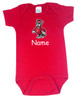 North Carolina State Wolfpack Personalized Team Color Baby Onesie