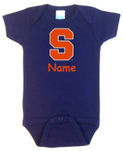 Syracuse Orange Personalized Team Color Baby Bodysuit