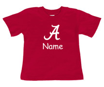 Alabama Crimson Tide Personalized Team Color Baby Onesie