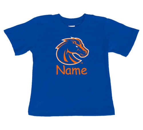 Boise State Broncos Personalized Team Color Baby/Toddler T-Shirt
