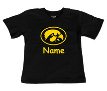 Iowa Hawkeyes Personalized Team Color Baby/Toddler T-Shirt