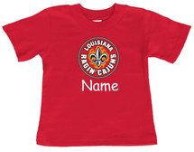 Louisiana Ragin Cajuns Personalized Team Color Baby/Toddler T-Shirt