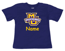 Marquette Golden Eagles Personalized Team Color Baby/Toddler T-Shirt