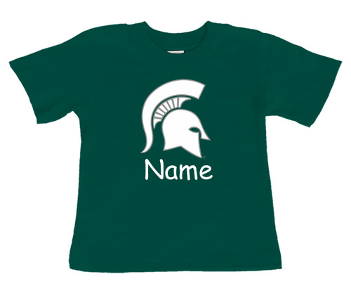 Michigan State Spartans Personalized Team Color Baby/Toddler T-Shirt