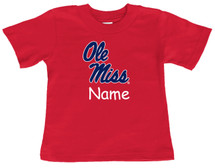 Mississippi Ole Miss Rebels Personalized Team Color Baby/Toddler T-Shirt