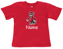 North Carolina State Wolfpack Personalized Team Color Baby/Toddler T-Shirt