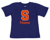 Syracuse Orange Personalized Team Color Baby/Toddler T-Shirt