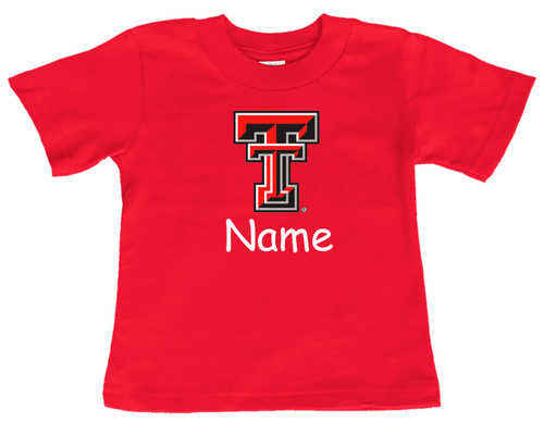 Texas Tech Red Raiders Personalized Team Color Baby/Toddler T-Shirt