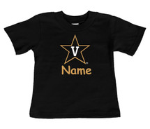Vanderbilt Commodores Personalized Team Color Baby/Toddler T-Shirt