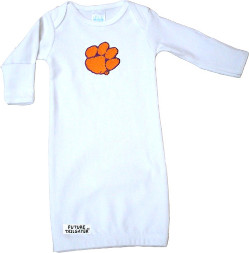 Clemson Tigers Baby Layette Gown