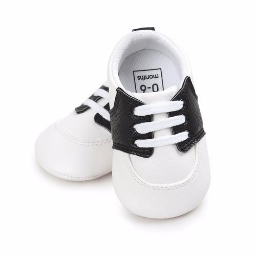 Alabama Crimson Tide Pre-Walker Baby Shoes - Black Trim