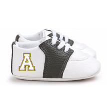 Appalachian State Mountaineers Pre-Walker Baby Shoes - Black Trim