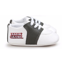 Louisiana Ragin Cajuns Pre-Walker Baby Shoes - Black Trim