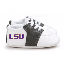 LSU Tigers Pre-Walker Baby Shoes - Black Trim