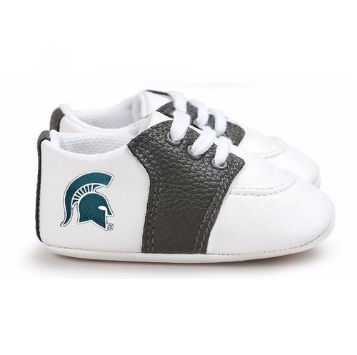 Michigan State Spartans Pre-Walker Baby Shoes - Black Trim