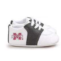 Mississippi State Bulldogs Pre-Walker Baby Shoes - Black Trim