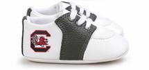 South Carolina Gamecocks Pre-Walker Baby Shoes - Black Trim