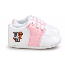 Bowling Green St. Falcons Pre-Walker Baby Shoes - Pink Trim