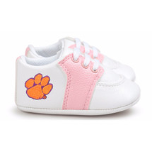 Clemson Tigers Pre-Walker Baby Shoes - Pink Trim