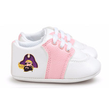 East Carolina Pirates Pre-Walker Baby Shoes - Pink Trim