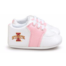 Iowa State Cyclones Pre-Walker Baby Shoes - Pink Trim