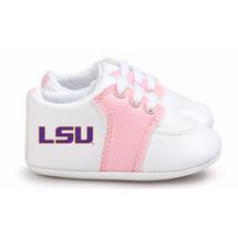 LSU Tigers Pre-Walker Baby Shoes - Pink Trim
