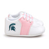 Michigan State Spartans Pre-Walker Baby Shoes - Pink Trim