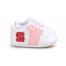 NC State Wolfpack Pre-Walker Baby Shoes - Pink Trim