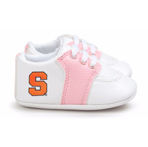 Syracuse Orange Pre-Walker Baby Shoes - Pink Trim
