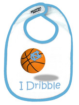 North Carolina Tar Heels I Dribble 2 Ply Baby Bib