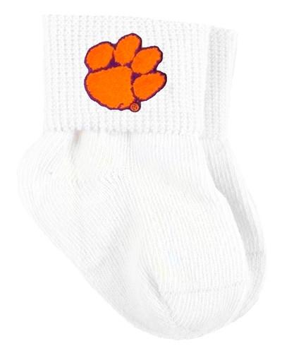 Clemson Tigers Baby Sock Booties