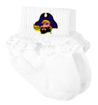 East Carolina Pirates Baby Laced Sock Booties
