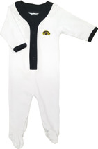 Iowa Hawkeyes Baby Long Sleeve Baseball Style Playsuit