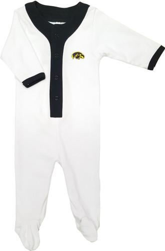 Iowa Hawkeyes Baby Long Sleeve Baseball Style Playsuit
