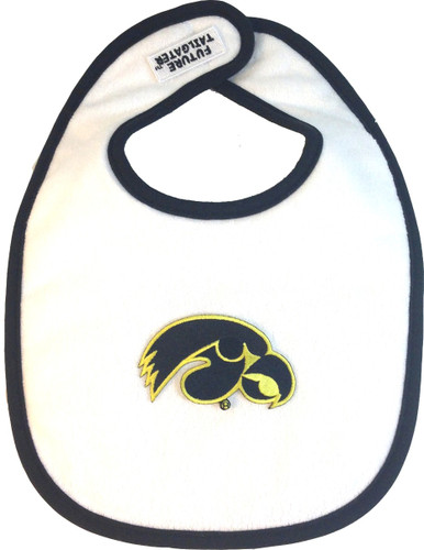 Iowa Hawkeyes 2 Ply Baby Bib