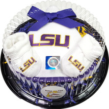 LSU Tigers Piece of Cake Baby Gift Set