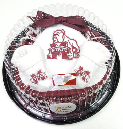 Mississippi State Bulldogs Piece of Cake Baby Gift Set