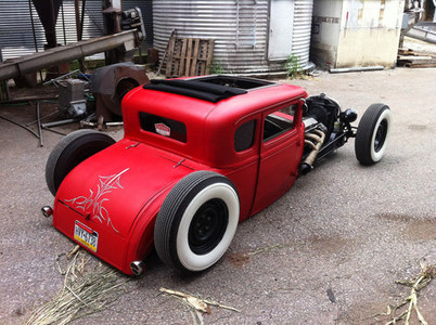 "Rat Rod (Ratrod) Coupe Sliding Ragtop 40""x40"" - Legacy Products"