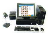 "Point of Sale System with 15"" Touch Screen monitor. Add Your Software"