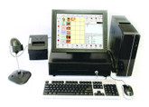 POS System with 15 inch touch screen and  software complete.