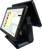 "Point of Sale 15"" Capacitive Touch  POS Terminal. Dual Screen WIFI"
