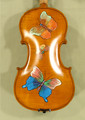 4/4 Gems 1 Intermediate Level Butterfly Violin - Hand Painted Butterflies - Code B4320V